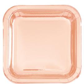 Kartonnen Bord Vierkant Rose Goud