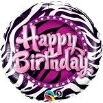Birthday Zebra Print Foil