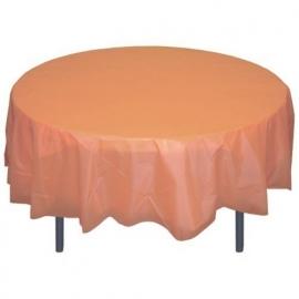 Ronde plastic tafelkleed Peach