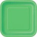 Kartonnen Bord Vierkant Lime Groen