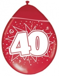 Ballonnen  40 Jaar Robijn