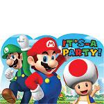 Super Mario Uitnodigingskaarten