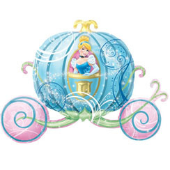 Disney Princess Carriage Supershape Folie Ballon