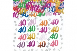 40th Birthday Metallic  Confetti Assortie