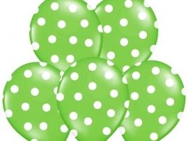 Pastel Lime/Wit Dots Ballonnen