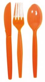 Transparant bestekset oranje