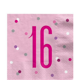 Pink Birthday Glitz Napkins