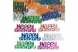 Happy Brithday Metallic  Confetti Assortie