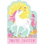 Magical Unicorn uitnodigingskaarten