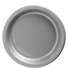 Plastic Dessert en Lunchbord Zilver