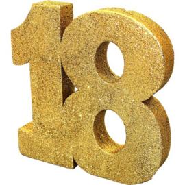 Glitter Goud Tafeldecoratie 18 jaar