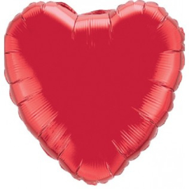 Folieballon hart ruby red