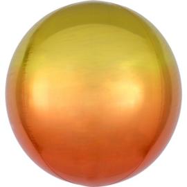 Omber Geel / Oranje Orbz Ballon