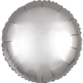 Folieballon rond zilver