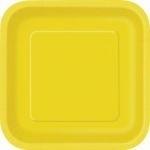 Kartonnen Bord Vierkant Geel
