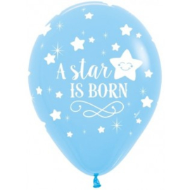Ballon a star is born blauw