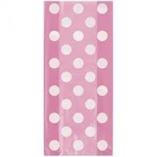 Cello Bags Dots Pink