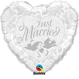 Just Married Silver Foil