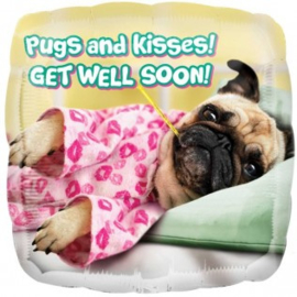 Get Well Pugs and Kisses Foil