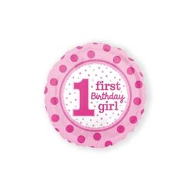 Folie ballon 1st birthday rose