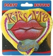 3D Button Kiss me