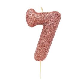 Cijferkaars Roze Goud nr. 7