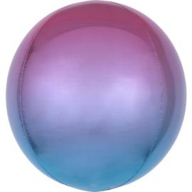 Omber Paars / Blauw Orbz Ballon