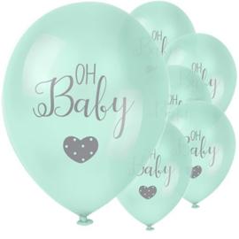 Oh Baby Mint Groen Ballon