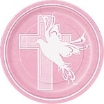 Dove Cross Pink Lunch Bord