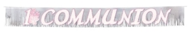 Radiant Cross Pink Communion Glitter Banner