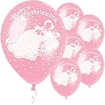 Baby Christening Ballon Rose