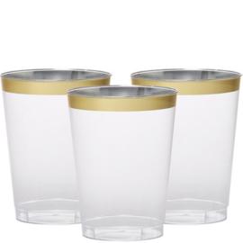 Plastic Limondaglazaen met Gouden Rand