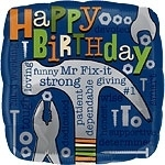 Mr Fix-It Birthday Foil