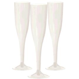 Plastic Champagneglazen Parelmoer