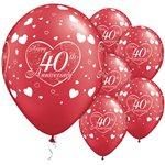 Heliumballonnen 50 Jaar Robijn