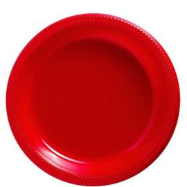 Plastic Dessert en Lunchbord  Rood