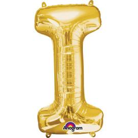 Folieballon letter I goud