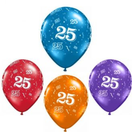 Helium ballon leeftijd 25 jaar