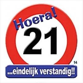 Verkeersbord Hoera 21