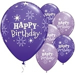 Ballonnen birthday  sparkle purple