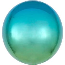 Omber Blauw / Groen Orbz Ballon