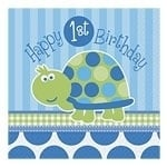 Turtle 1st Birthday Servetten