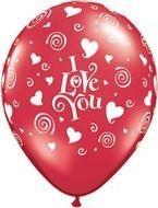 Ballon Swirling hearts
