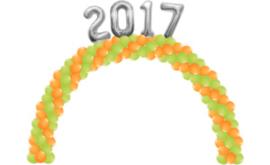 Ballonnenboog met folie cijfers