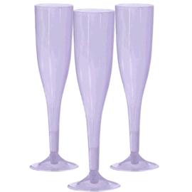 Plastic Champagneglazen Lavendel