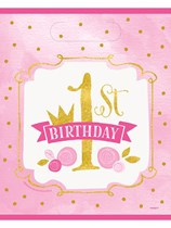 Pink & Gold 1st Birthday Party Bags