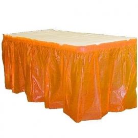 Plastic tafelrok oranje