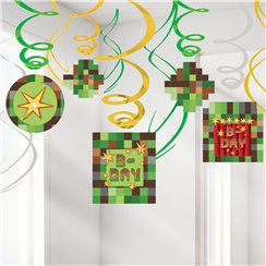 TNT Minecraft Hanging Swirls