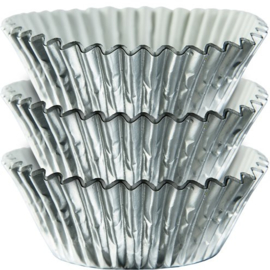 Zilver Metalic Cupcake Cases