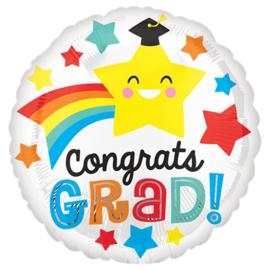 Congrats Grad Smile Folie Ballon